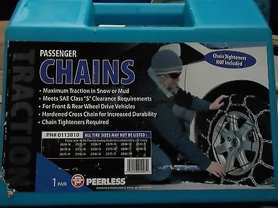Tire Cable Snow Chains, Pair Of Passenger, Peerless, 0113810 Vehicle