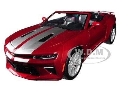 2017 Chevrolet Camaro Ss Convertible Red 1/24 Diecast Model Car Greenlight 18245