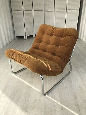 1970's Peter Hoyte Style Sling Chair Retro Vintage Mid Century