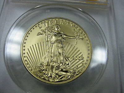 2008-W $50 American Gold Eagle 1Oz Graded Anacs  Sp 70 Burnished First Day Issue