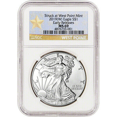2019-(W) American Silver Eagle - NGC MS69 - Early Releases - Star Label