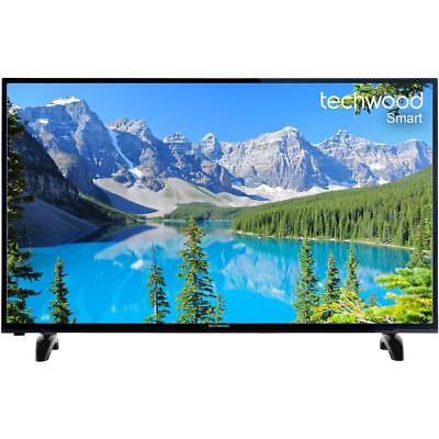 """Techwood 50AO7USB 50"""" Inch Hd Wifi Smart TV With Freeview Play Black [A+ Rated]"""