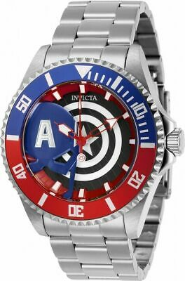 Invicta Marvel Captain America Limited Edition Pro Diver Stainless Watch 29680