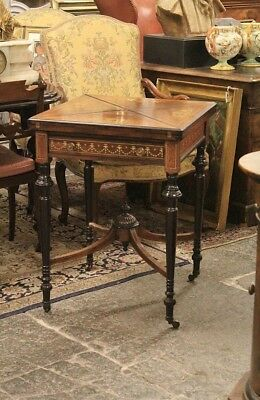 Small Table From Game, London, End '800, Rosewood Inlaid / Small Table From Game