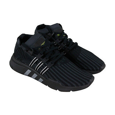 new product 47ce2 8ea63 Adidas Eqt Support Mid Adv Mens Black Textile Athletic Lace Up Running Shoes