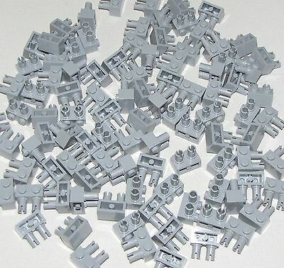 Lego Lot of 5 New Light Bluish Gray Plates Modified 1 x 4 with Towball Socket