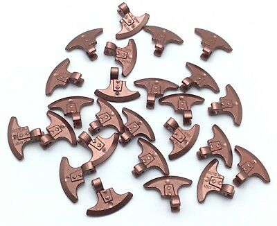 Lego 25 New Copper Minifig Weapon Axe Head Clip-on Pieces