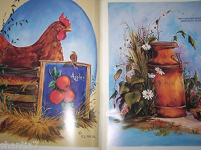 Rustic Charms V3 By Sharon Rachal 1990 Oil Paint Book Scheewe Tole Landscapes
