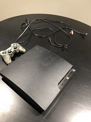 Sony PlayStation 3 Slim Launch Edition 160GB Charcoal Black Console WITH GAMES