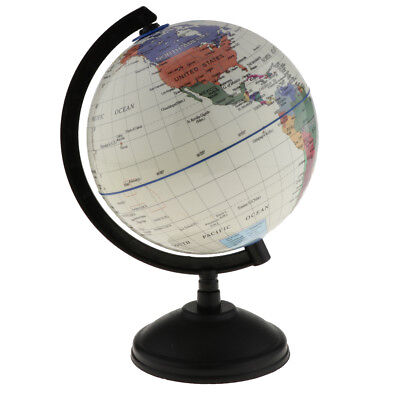 14cm Swivel World Globe Map Nation/Ocean Geography Student Education White