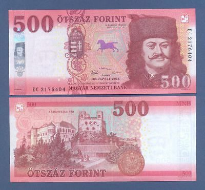 Hungary 500 Forint 2018 UNC !!! NEW !!! Publication date  : 01. February 2019
