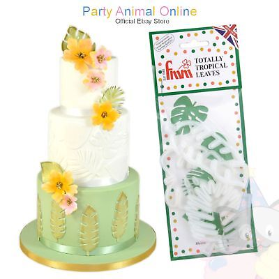 FMM Totally Tropical Leaves - Sugarcraft cake decoration cutters