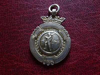 Silver  Cricket Watch Fob Medal  F7787