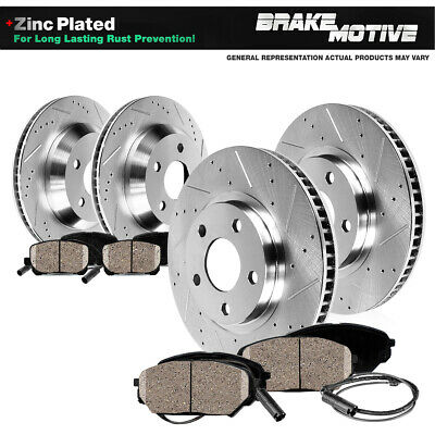 OE Replacement 2006 2007 BMW 530Xi Rotors Metallic Pads F+R