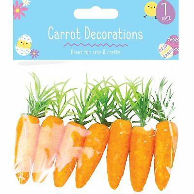 7pc Easter False Carrot Party Decoration Egg Hunt Craft Party Loot Basket Child