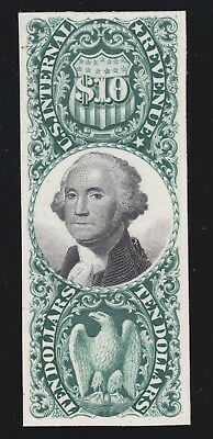 US R149P4 $10 Revenue 3rd Issue Proof on Card XF SCV $55