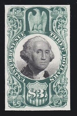 US R147P4 $3 Revenue 3rd Issue Proof on Card VF-XF SCV $70