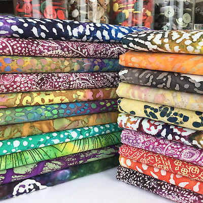 NEW Batik Tropical100% cotton fabric bundles & fabric per 1/2 metre for sewing