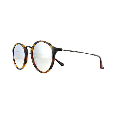 3567b64653 Ray-Ban Sunglasses Round Fleck 2447 11579U Havana Graduated Grey Mirror 49mm