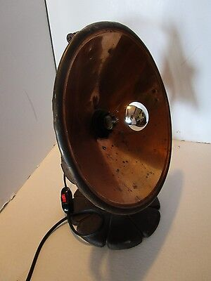 Art Deco TABLE LAMP Repurposed Industrial Heater Copper Reflector THERMAX 1920s