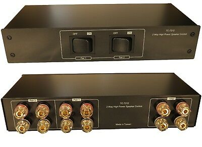 2 Zone Speaker Pair 200W Selector Switch Switcher Gold Plated 4mm Banana Jacks