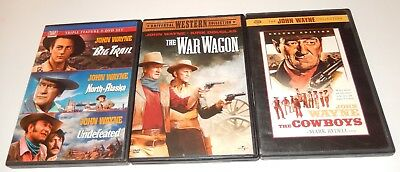 Lot of 5 John Wayne DVD 5 Discs War Wagon Cowboys Alaska Undefeated Trail