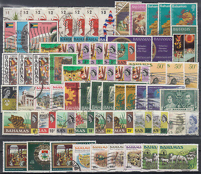 BAHAMAS ☀ QEII nice collestion / lot of 67 stamps ☀ see all scan