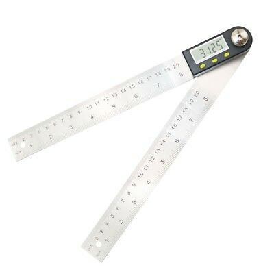 Digital Protractor Inclinometer Goniometer Angle Ruler Stainless Steel Measure