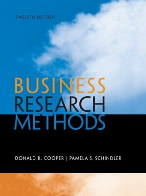Business Research Methods by Donald Cooper and Pamela Schindler [eBooᴋ/PDF]