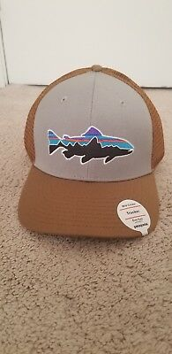 f0f4ee83c04 Patagonia Fitz Roy Trout Trucker Hat - New With Tags - Drifter Grey W   Coriander
