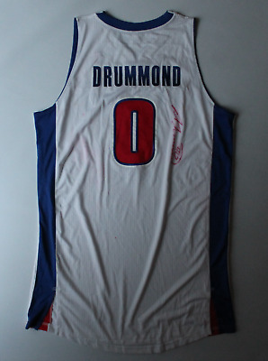 5903676e53c6 Andre Drummond signed autographed game used worn Detroit Pistons jersey!  LOA!
