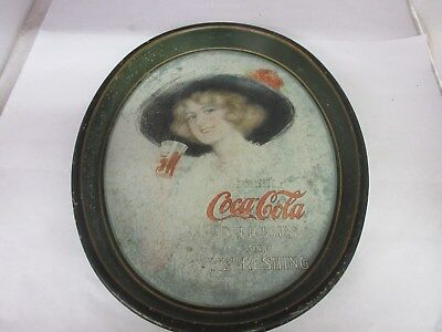 Authentic Coke Coca Cola 1913  Advertising Serving Tin Tray  641