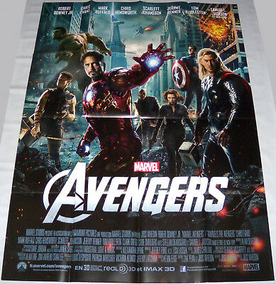 AVENGERS  Marvel Iron man Black widow Thor Captain America  LARGE French POSTER