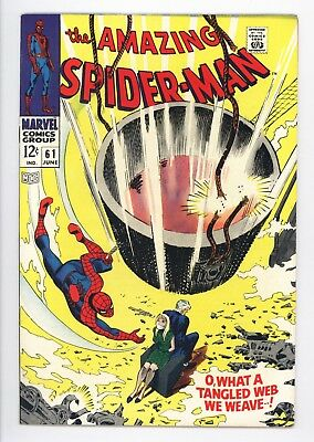 Amazing Spider-Man #61 Vol 1 Near Perfect High Grade 1st Gwen Stacy Cover