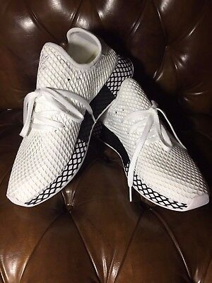 sports shoes a9ff1 f7ee5 New Adidas Originals Deerupt Runner White, White  Black Shoes Sneakers  B41767