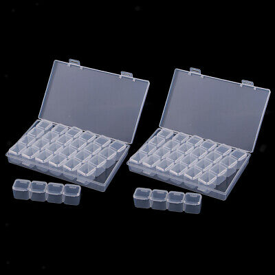 56x Plastic Storage Box Case Clear Organizer Beads Earring Jewelry Container