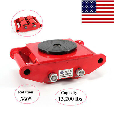 NEW!Industrial Machinery Mover 6T/13,200Lb 360 Degree Rotation Move Roller