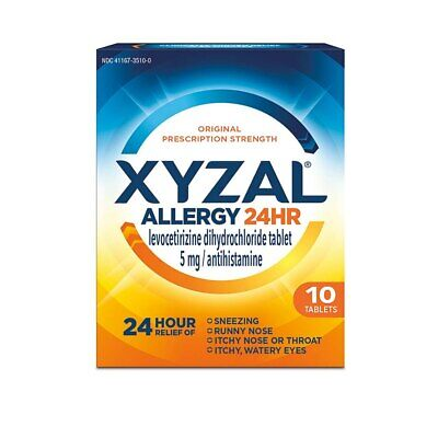 Xyzal Allergy Relief Tablets, 24-Hour 5 mg, 10 Ct