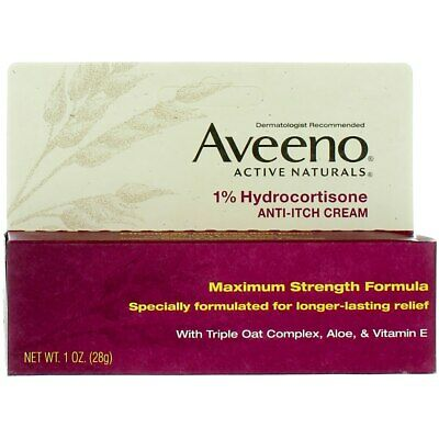 Aveeno Active Naturals Anti-Itch Cream, 1 oz