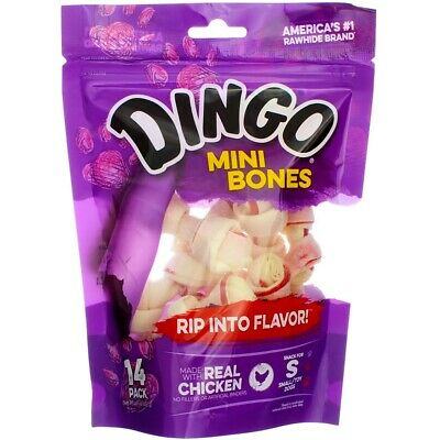 Dingo Mini Bones, Rawhide for Small/Toy Dogs, 14-Count