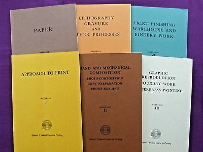 GENERAL TECHNICAL COURSE IN PRINT BPIF 3rd Ed. 1976 Letterpress Litho Paper &etc