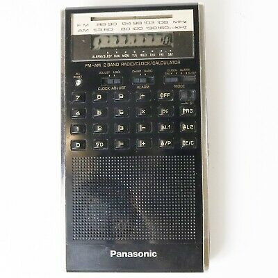 Panasonic Mister Thin RF-079 AM/FM Radio Calculator Alarm Clock - Works