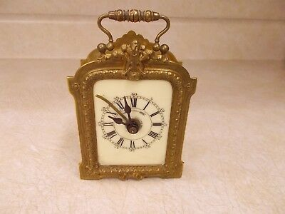 French Alarm Clock, Early Cylinder Platform Escapement, Works Well