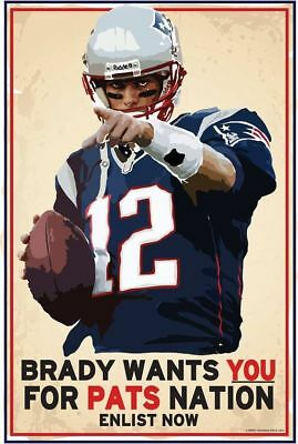 "New England PATRIOTS TOM BRADY ""Wants You For Pats""   FRIDGE Magnet 2.5"" x 3.5"""