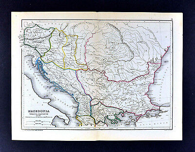 1871 Classical Map Ancient Macedonia Thracia Illyricum Dacia - Greece Balkans