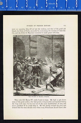 The Murder of Marshall D'Ancre, Concino Concini - 1882 Page of History
