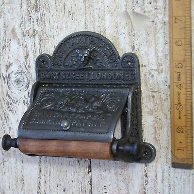 Victorian Cast Antique Iron Toilet Roll Holder Wall Mounted Vintage Choose Style