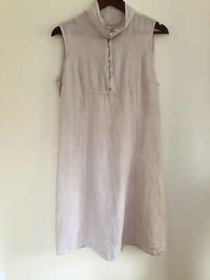 2f77adaeeb LINA TOMEI MADE in Italy Linen Dress L