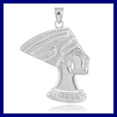 High Polish 925 STERLING SILVER Egyptian Queen Nefertiti Charm Womens