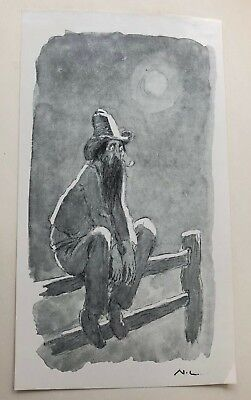 1960 FISHER'S GHOST, 1st, SIGNED by NORMAN LINDSAY, 1/200, free shipping